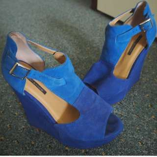 Blue Tony Bianco Wedges Heels - SIZE 6