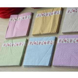 🚚 碎花紙巾 英式下午茶紙巾歐式婚禮派對野餐Candy bar 餐具
