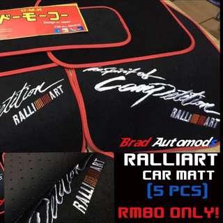Ralliart Car Matt For Wira