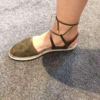 Wit nee Khaki Green Sandal Size 40