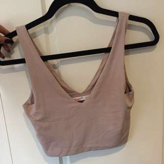 Supre Blush V Neck Crop Top Size Small