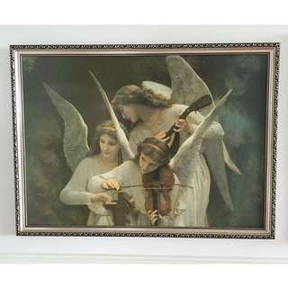 High Quality Art Print With Elegant Frame ( Angel Classic Victorian Italy Picture Art )
