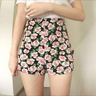 ☀️Size 6 Korean Floral Shorts