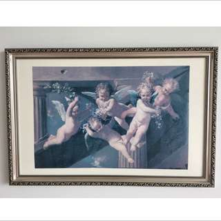 Classic Angels Picture With Frame ( Art Classical Victorian Italy Vatican Pictures Home )