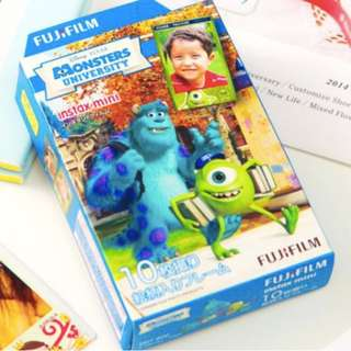 拍立得底片 Fuji film Instax Mini (polaroid) monster university Instant Film