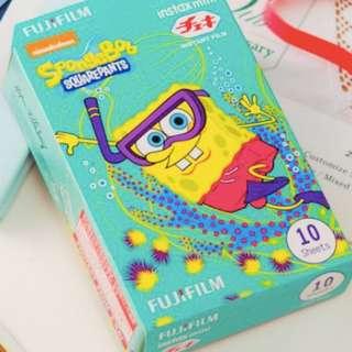 拍立得底片 Fuji film Instax Mini (polaroid) Spongebob Snorkelin Instant Film