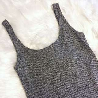 Pending * Grey/black Singlet Dress