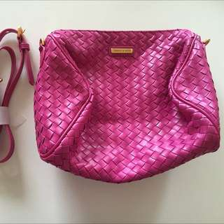 BN Charles & Keith Hot Pink Sling Bag
