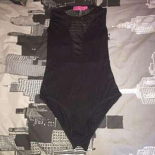 Black Sheer Bodysuit