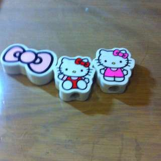 Hello Kitty Rubbers For Pencils