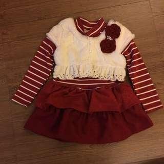 女童洋裝 喜氣 禮盒 新年服