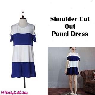 Shoulder Cut Out Panel Dress