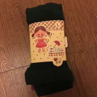 女童 褲襪 秋冬 搭靴子 玫瑰花