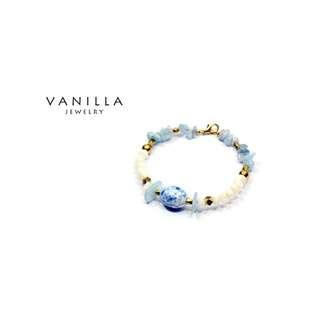 [網路價] Vanilla Jewelry 獨家設計款- 純手工天然石黃銅手鍊-可客製