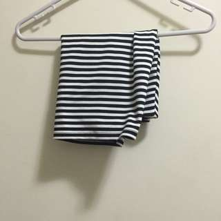 Zara Black And White Mini Skirt