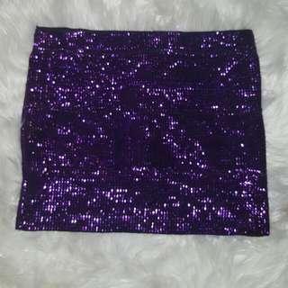 Sparkly Purple Mini Skirt