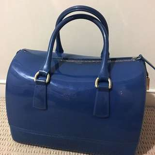 Furla Candy Jelly Bag Setchel Turkish Blue