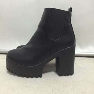 Womens Black Heeled Boots