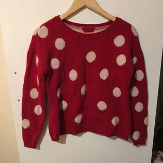 Red Knit Jumper