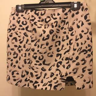 KEEPSAKE leopard Print Skirt