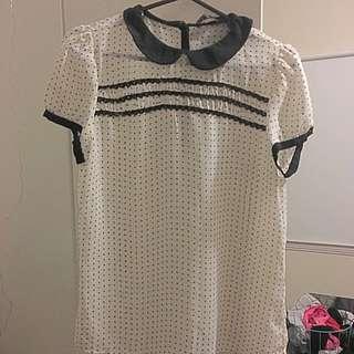 Sheer Zara Spotted Blouse