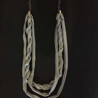 Grey Clothe Necklace