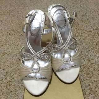 Bovarie Bridal Heels (Champagne Colour, Size 36)