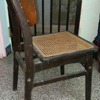 懷舊木藤靠背椅