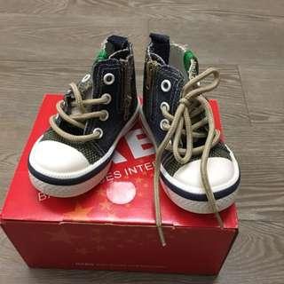 全新HABU藍丹寧帆布童鞋(附鞋盒)