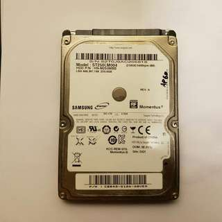 """Seagate 2.5"""" 250 GB Hardrive For Laptops"""