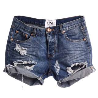 One Teaspoon Denim Shorts 牛仔短褲