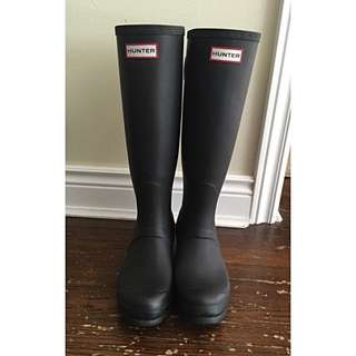 Hunter Boots - Women's Original Back Adjustable Rain Boots Size 38