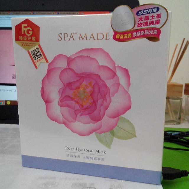 【92全新】SPA MADE 透漾保濕玫瑰純露面膜3入組