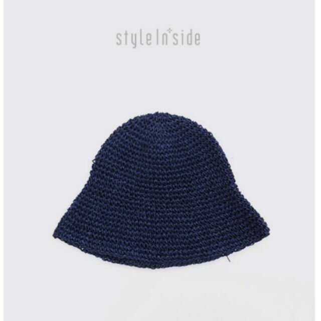 全新韓國編織藍色漁夫帽