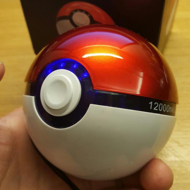 寶可夢 皮卡丘 12000mAh 收服球 充電器,基本 電鍍版