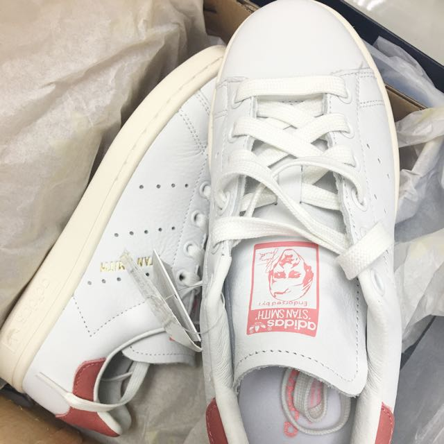"ADIDAS ORIGINALS ""STAN SMITH""粉麂皮尾(22.5現貨)"
