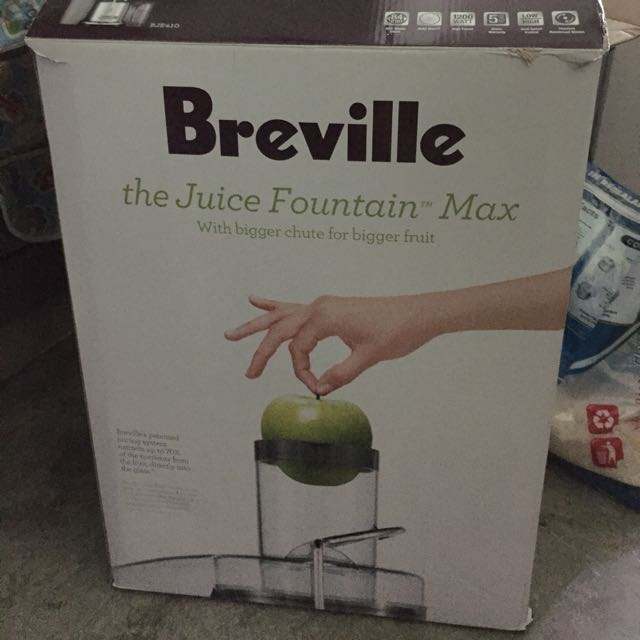 Almost New Breville Juice Fountain Max Juicer