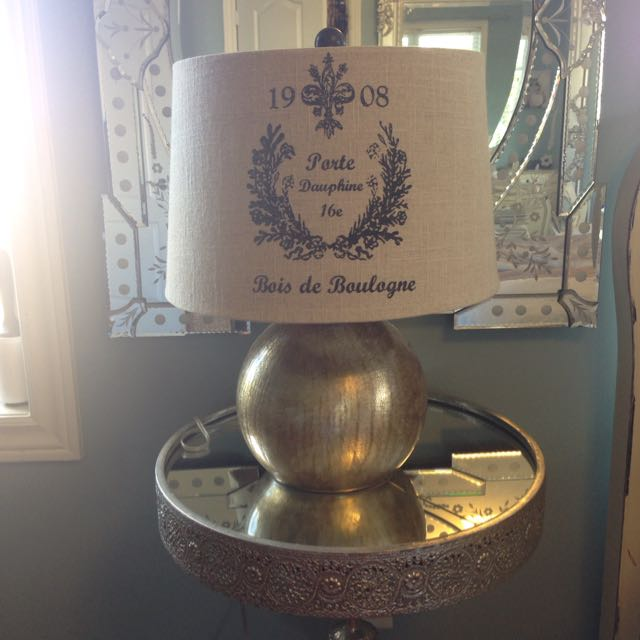 Beautiful French Gold Lamp