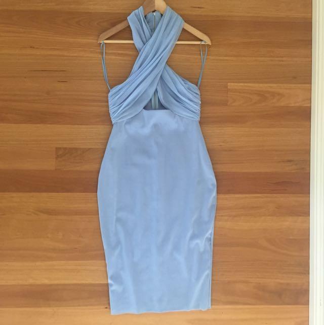 Bec & Bridge Blue Halter Cross Dress