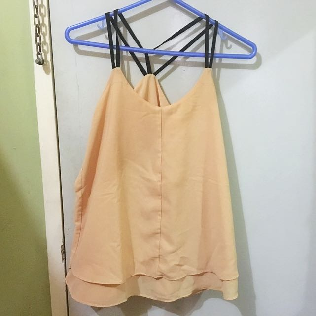 BEIGE STRING TOP