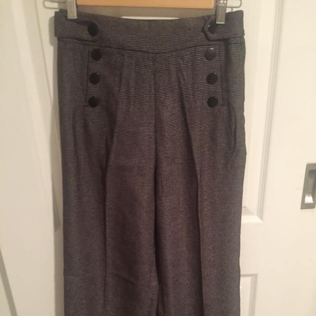 Brand New- High Waisted Trousers Wide Leg