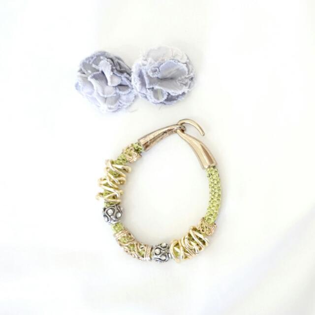 Bundle Earring + Bracelet / Gelang Anting Set
