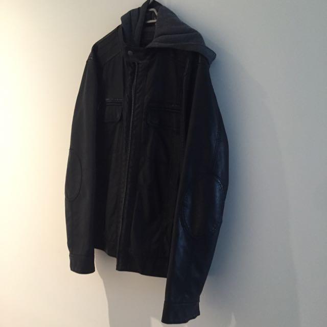 Calvin Klein - Black Jacket With Grey Jumper Hoodie