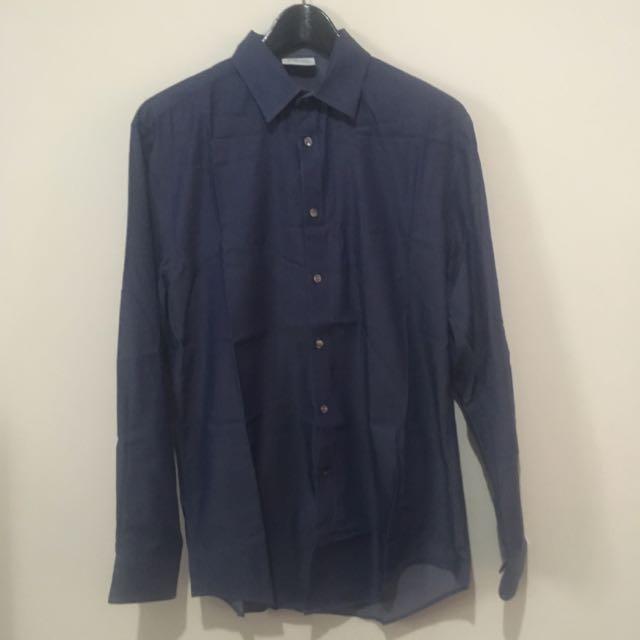 Calvin Klein Chambray Blue Shirt