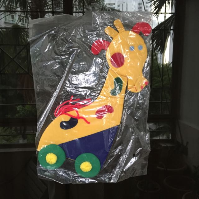 Decorative, colourful, cute hang-up soft toy for baby/kid's room