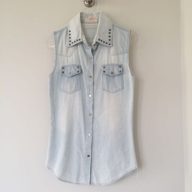 Denim Studded Shirt