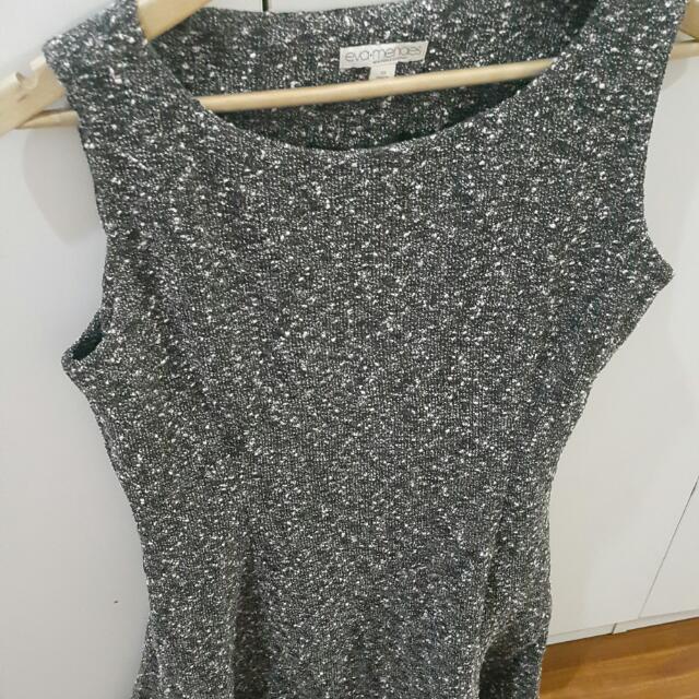 Dress Terusan Pendek Tanpa Lengan. Size 10 . Merk : Eva Mendes