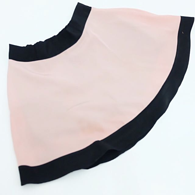 DUSTY PINK MINI SKIRT (with black short inside)