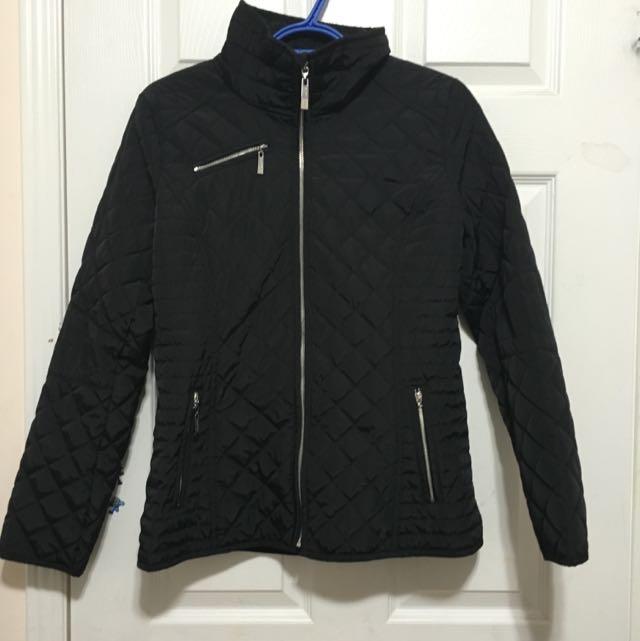 Ellen Tracy Diamond Quilted Jacket