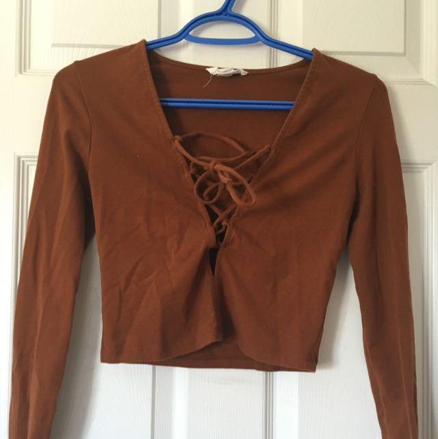 Forever 21 Lace Up Shirt